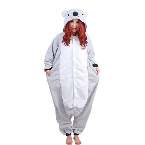 NINI.LADY Adult Unisex Animal Onesie Pajamas Cosplay Costume Sleepwear Homewear Grey Koala XL (Chopper Pajamas compare prices)