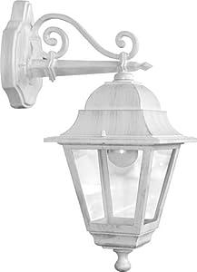 Lanterna lanterne bianca bianche da giardino con braccio for Lanterne bianche