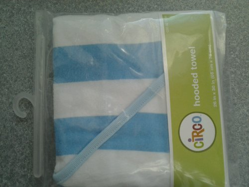 Circo® Baby Knit Stripe Hooded Towel - Blue - 1