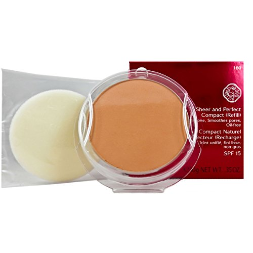 Shiseido, Sheer and Perfect, Ricarica per fondotinta compatto in polvere, 10 g, n. I60 Deep Ivory
