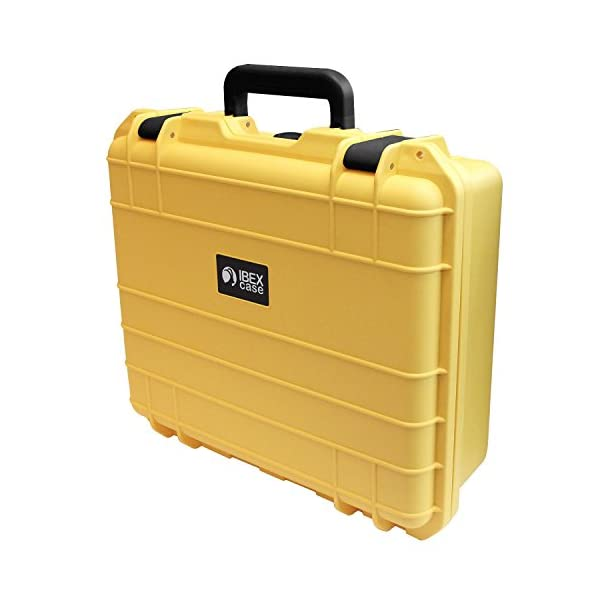IBEX-Cases-Yellow-Watertight-Hard-Rugged-Protective-Case-for-Electronics-Equipment-Cameras-Tools-Drones-and-More-IC-1500YL