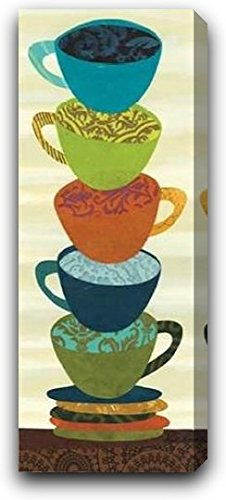 "Stacking Cups II by Jeni Lee - 12"" x 30"" Gallery Wrapped Premium Canvas Print"