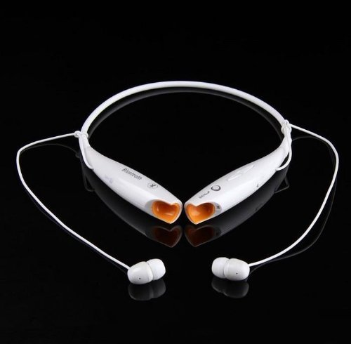 Onedayshop® Brand New Universal Hbs-700 Wireless Sport Bluetooth Stereo Headset Neckband Style Earphone And Handfree Headphones For Cellphones, Such As Iphone, Nokia, Htc, Samsung, Lg, Moto, Pc, Ipad, Psp & Any Bluetooth Enabled Device. (White)