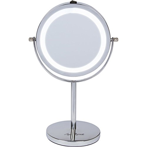 aqua-elegante-6-inch-led-makeup-mirror-double-sided-lighted-10x-1x-magnification-chrome