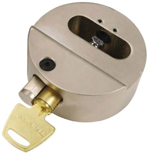 "Fantastic Deal! Trimax THPXL ""Hockey Puck"" Internal Shackle Trailer Door Lock - Rekeyable"
