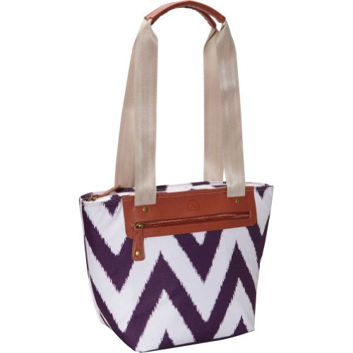Igloo Ikat Zag Everyday Tote, Eggplant, 14 front-1070974