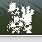 Goofy Dog White Sticker Decal Disney Mickey White Car Window Wall Macbook Notebook Laptop Sticker Decal