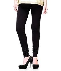 kannan cotton Women's Leggings (Legging Black_Free Size_Black)