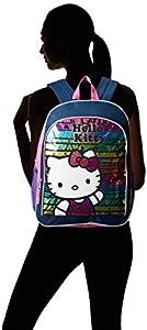 FAB Starpoint Little Girls' Hello Kitty Rainbow Underglass 16 Inch Backpack
