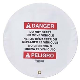 "Master Lock Steering Wheel Warning Cover for Lockout/Tagout, 16"" Diameter"
