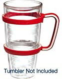 Tervis Tumbler Red Handle Accessory for 24oz Tervis Drinkwear