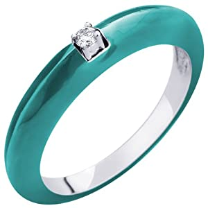 Amore Solitaire Women Girls Ring AIR 00005 Blue