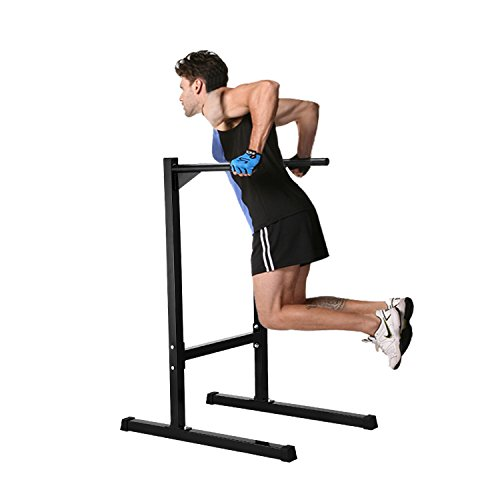 Ollieroo Heavy Duty Dip Stand Freestanding Dip Station Parallel Bar Bicep Triceps Home Gym Dipping Station Dip Bar-Black (Pull Up Bar Stand compare prices)