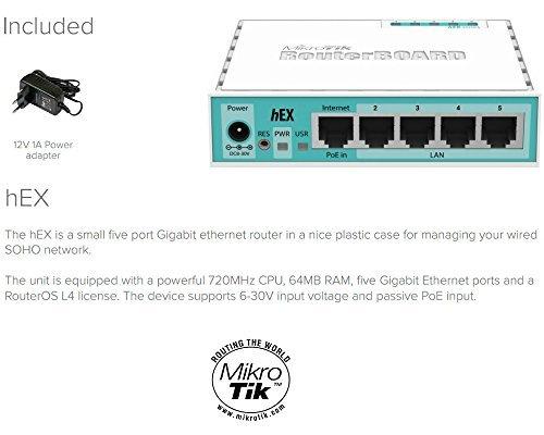 Mikrotik RB750Gr2 RouterBOARD hEX 64MB Router Gigabit 5 ports 10/100
