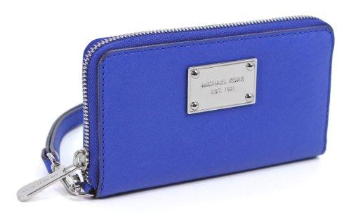 Michael Kors Large Multifunction Phone Case Sapphire Blue Saffiano Pvc