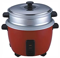 Pigeon Joy 1.8L Double Pot Unlimited SDX 220V / 50Hz AC 700-Watt Electric Rice Cooker (Red)
