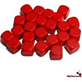 Big Cherry 24x Blank 16mm D6 (6 sided) Dice - Red