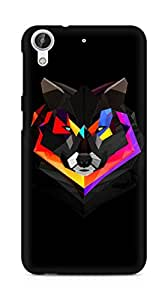 Amez designer printed 3d premium high quality back case cover for HTC Desire 626 LTE (Wolf face abstract colorful)