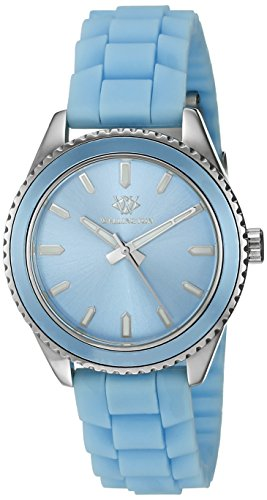 Wellington Karamea Women's Quartz Watch with Blue Dial Analogue Display and Blue Silicone Strap WN508-133B