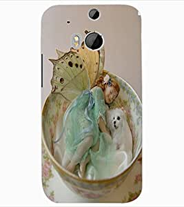 ColourCraft Cute Baby Angel Design Back Case Cover for HTC ONE M8