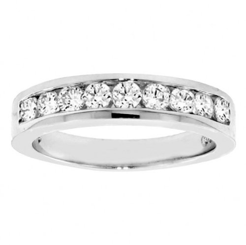 1.00 CT TW Channel Set Round Diamond Anniversary