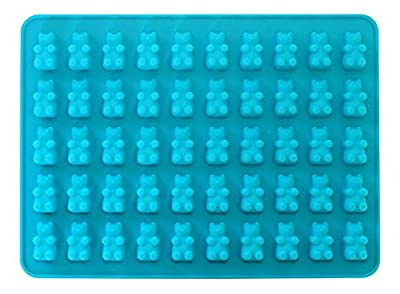 50 Cavity Silicone Bear & Chocolate Mold - Make Healthy Sugar Free Gummys' & Candies at Home