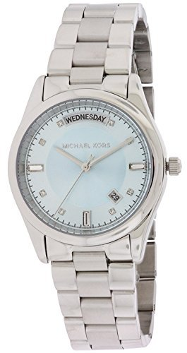 Michael Kors MK6068 34mm Silver Steel Bracelet & Case Mineral Women's Watch