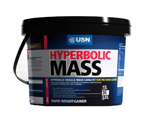 USN Hyperbolic Mass 6000 g Strawberry Weight and Muscle Gain Shake Powder