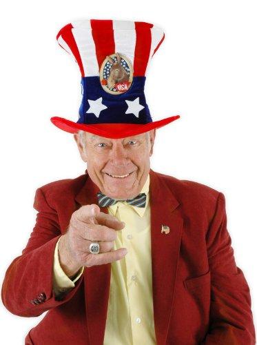 Elope 222137 USA Uncle Sam Democrat Hat - 1