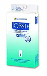 >Relief kn hi bge lg 20-30 opn. Relief Therapeutic Knee High Support Stockings, 20 - 30 mmHg