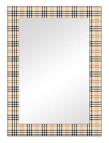 The Attic Waterford Mirror Frame (Glossy Finish, Brown)