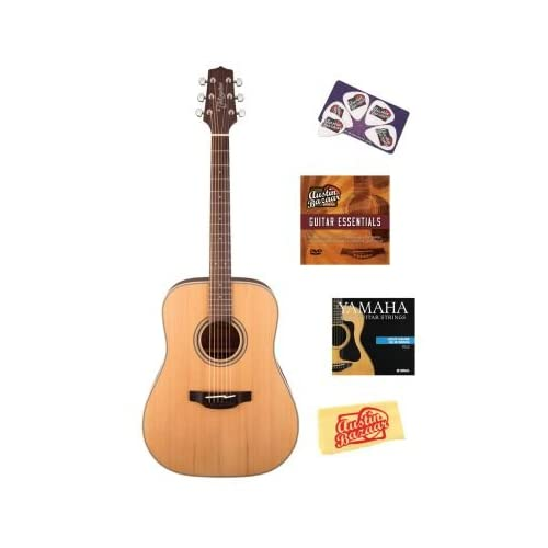 Takamine GD20-NS G Series Dreadnought Acoustic Guitar Bundle with Instructional DVD, Strings, Pick Card, and Polishing... reviews