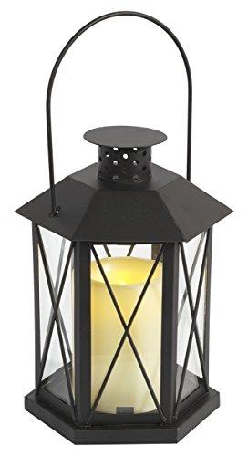 Brauns-Heitmann-006849-Metall-Laterne-mit-LED-Kerze-30-cm-schwarz