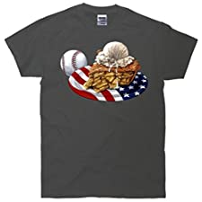 American Baseball And USA Pie T-Shirt