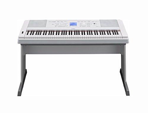 [해외]녹스 피아노 벤치 먼지 커버와 책 DVD와 야마하 DGX660W 88 키 디지털 피아노 (화이트)/Yamaha DGX660W 88 Key Digital Piano (White) with Knox Piano Bench