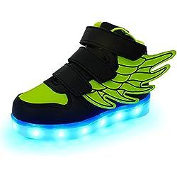 iFresh Jungen/Mädchen Kinder Freizeit Leuchtende LED Sneaker Sport Schuhe mit Turnschuhe Farbwechsel für Party Tanzen Rollbrett