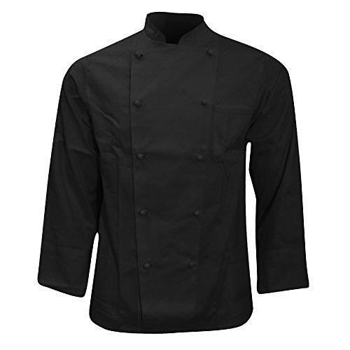 Karlowsky - Casacca Doppio Petto da Chef - Unisex (S) (Nero)