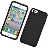 Eagle Cell Barely There Slim and Soft Skin Case for iPhone 5 - Non-Retail Packaging - Black