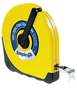 Empire Level 6100 Closed Case Fiberglass Measuring Tape 100-Feet by 1/2-Inch, Inch/Engineers Scale