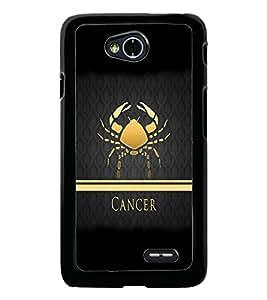 PrintDhaba Zodiac Cancer D-4294 Back Case Cover for LG L70 (Multi-Coloured)