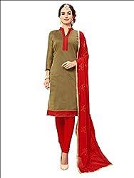 YOUR CHOICE Chanderi Cotton Pink Plain Women's Straight Suit DRMN110