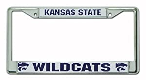 Buy NCAA Kansas State Wildcats Chrome License Plate Frame by Rico