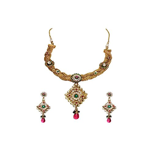 Anjan Traditional Alloy Necklace Set For Women