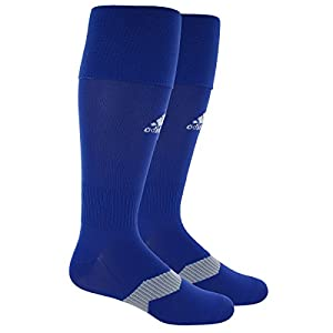 adidas Metro IV Soccer Socks, Bold Blue/White/Clear Grey, Medium