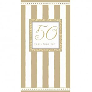Amazon.com: Gold White 50 Years Together Anniversary Party Invitations