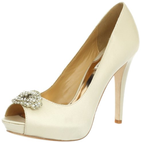 badgley-mischka-goodie-womens-ivory-peep-toe-textile-pumps-heels-shoes