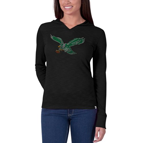 Nfl Philadelphia Eagles Women'S '47 Brand Primetime Hood, Jet Black, Large