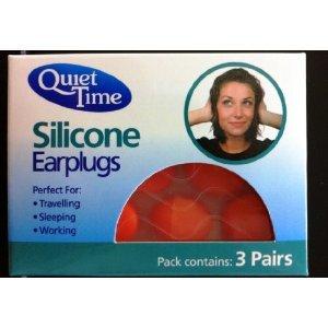QUIET TIME Silicone Earplugs 3 Pairs