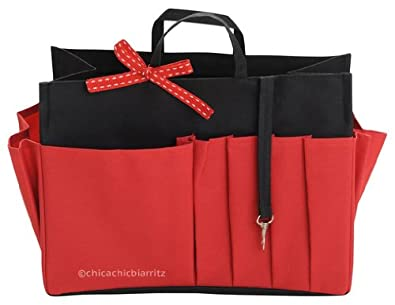 Organiseur de sac noir rouge taille s long 21 cm x - Astuce rangement sac a main ...
