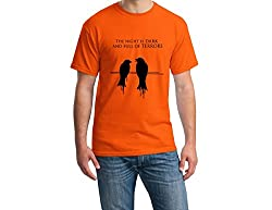 Teeforme Night is Dark T-shirt Orange